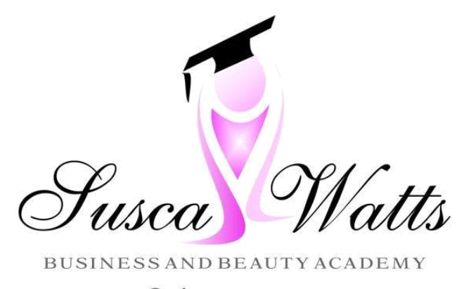 Susca Watts Business & Beauty Academy Sticky Logo